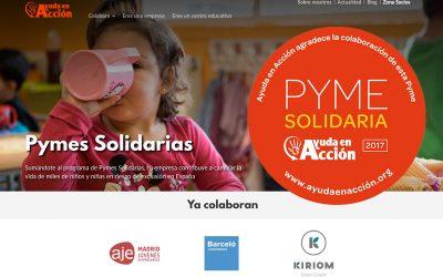 KIRIOM ya es una Pyme Solidaria de Ayuda en Acción
